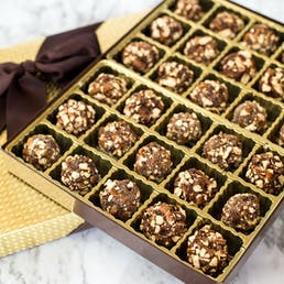 Guiness Infused Crushed Pretzel Truffles