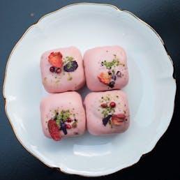 Lemon Raspberry Petits Gateaux Gift Box - 12 Pieces