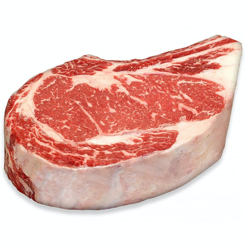 USDA Prime Black Angus Bone-In Rib Steak, Center Cut