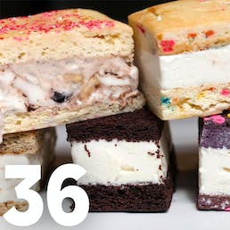 Choose Your Own Ice Cream Cake Sandwiches - 36 Pack