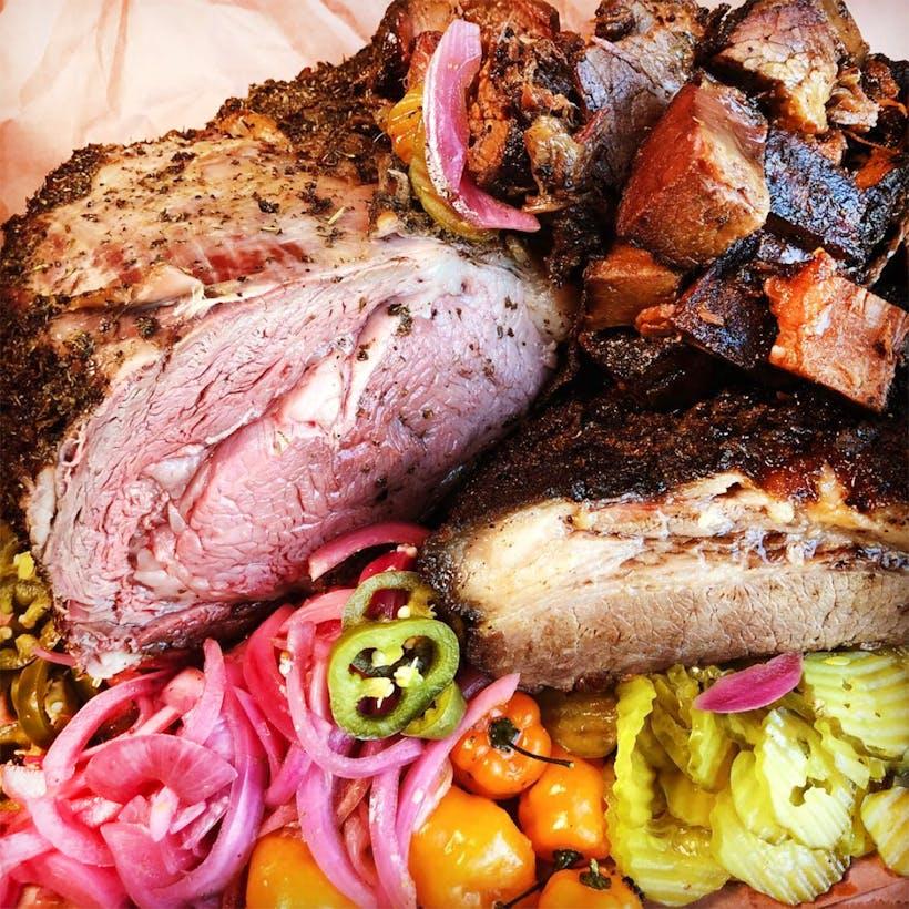 Texas BBQ Sampler - Brisket, Prime Rib & Burnt Ends