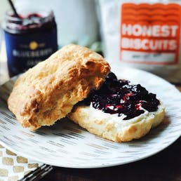 Giant Gluten Free Butterhole Biscuits + Bow Hill Blueberry Jam