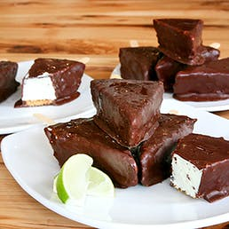 Chocolate Dipped Key Lime Pie Bars - 18 Pack