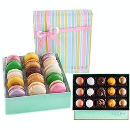 NOLA Chocolate Collection + Signature Macarons Box - Gluten Free