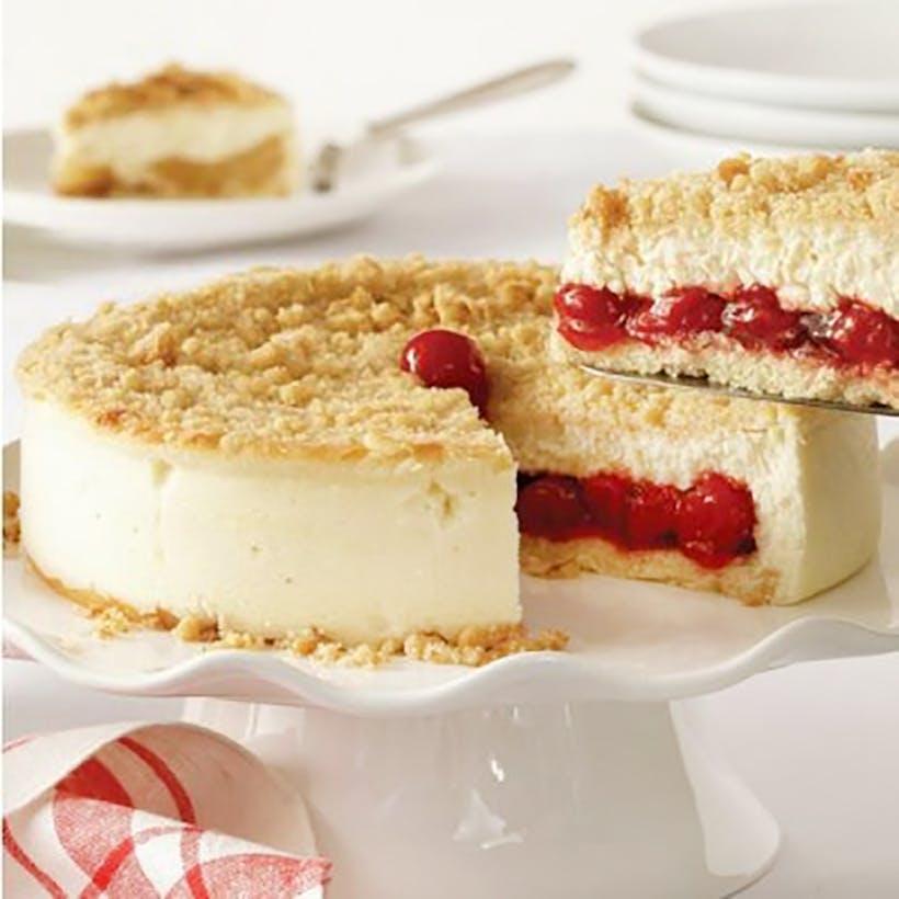 Cherry Crumb Cheesecake