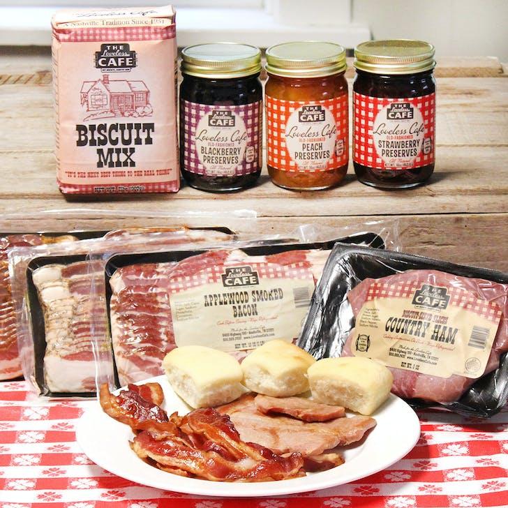 Food Explorer Biscuits + Jam + Bacon + Ham Box