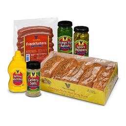 Natural Casing Chicago Style Hot Dog Kit - 10 Pack