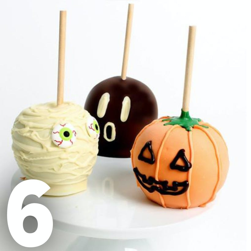 Halloween Chocolate Caramel Apples - 6 Pack