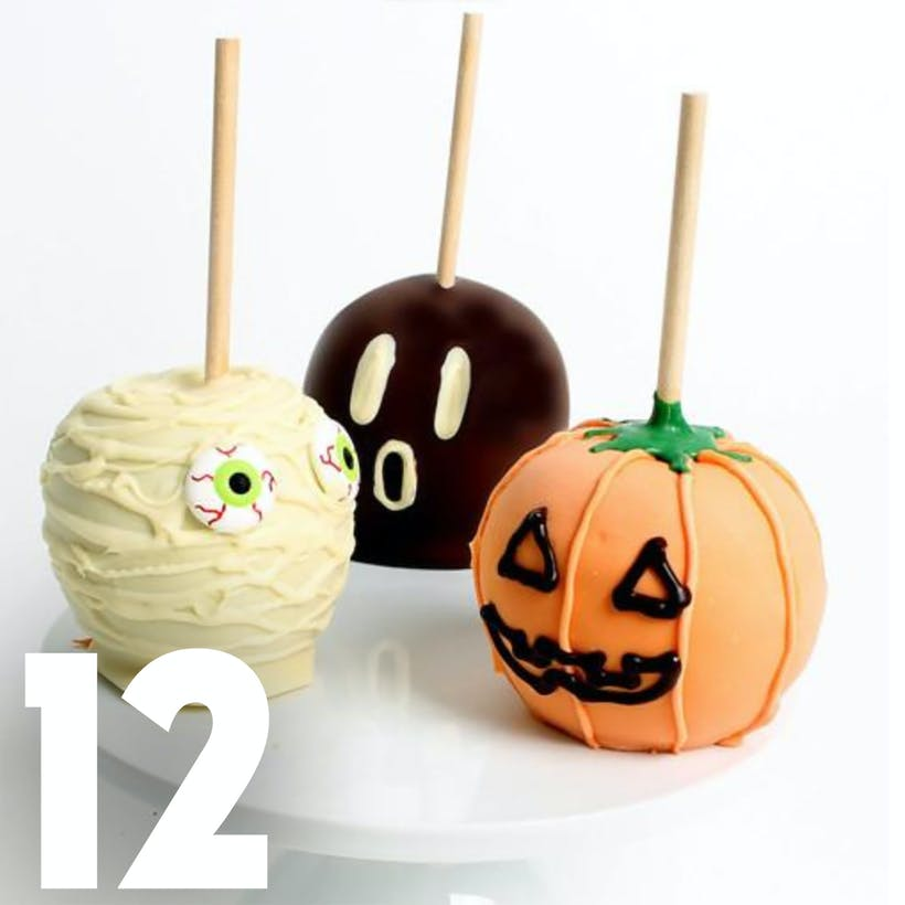 Halloween Chocolate Caramel Apples - 12 Pack