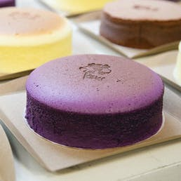 Bouncy Ube Japanese Cheesecake