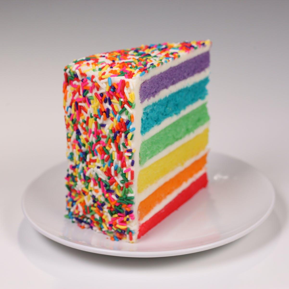 Remarkable Rainbow Cake By Carlos Bakery Goldbelly Funny Birthday Cards Online Amentibdeldamsfinfo