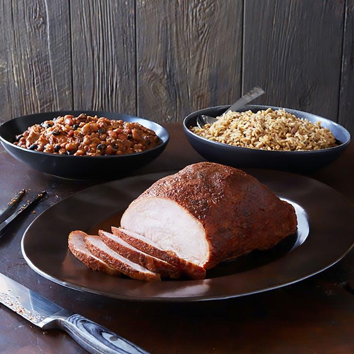 Whole Smoked Turkey Breast Full Dinner