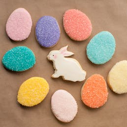 Bunny and 8 Colored Egg Cookies