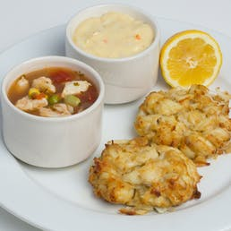 Maryland Crab Cakes + Crab Soup Combo