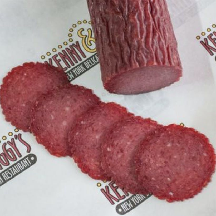 Hard, Sliced, Dried Kosher Salami - 1 lb.