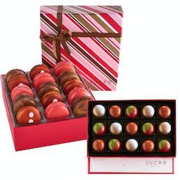 Holiday Macarons + Chocolates Collection