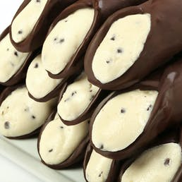 Filled Large Hand Dipped Belgian Chocolate Cannoli - 12 Pack