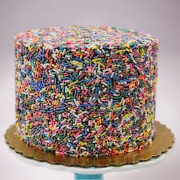 Chocolate Fudge Rainbow Cake