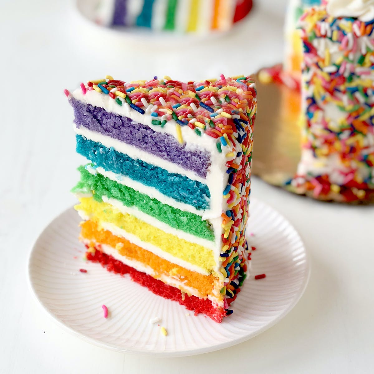 Excellent Rainbow Cake By Carlos Bakery Goldbelly Funny Birthday Cards Online Amentibdeldamsfinfo