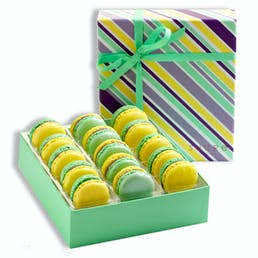 Carnival Chocolates + Mardi Gras Macarons