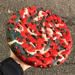 Big Game Blue & Red Chocolate Chip Cookie Cake