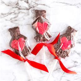 Valentine's Day Cuddle Bear Lollipops - 24 Pack