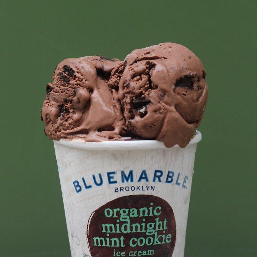 Organic Midnight Mint Cookie Ice Cream - 6 Pints