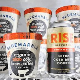 Organic RISE Nitro Cold Brew Coffee Ice Cream - 6 Pints