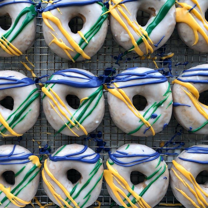 Mardi Gras Donut Dozen