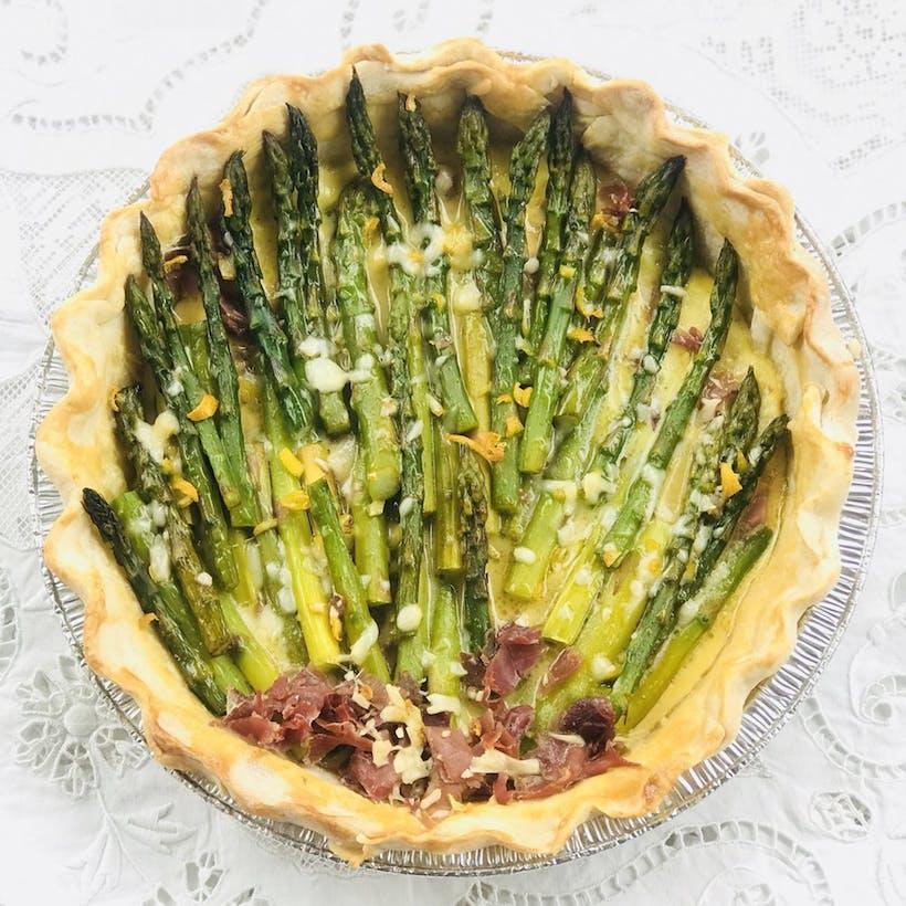 Spring Green Asparagus Pie