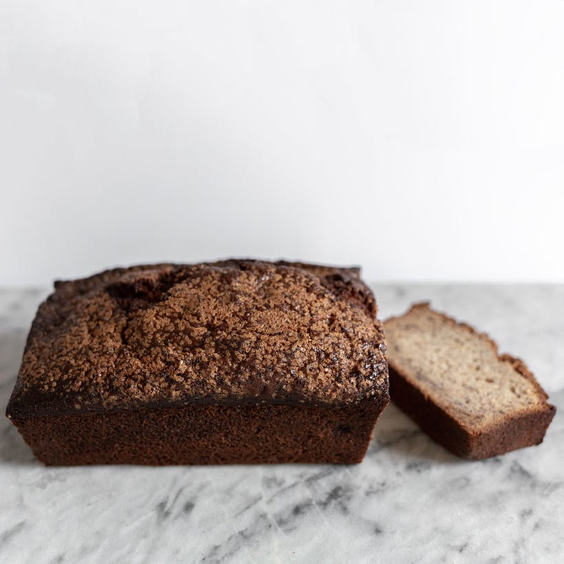 Caramelized Banana Bread Loaf