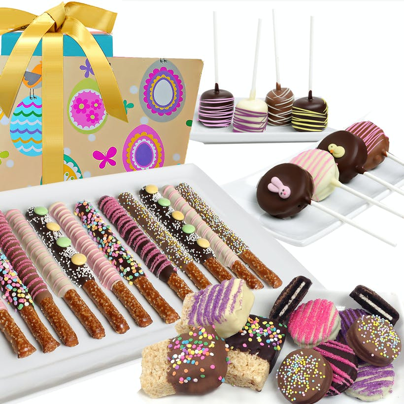 Easter Basket of Belgian Chocolate Covered Treats