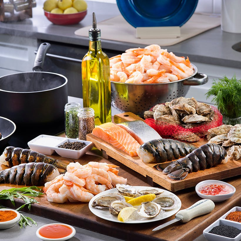 Seafood Dinner Party Box - Serves 16-20