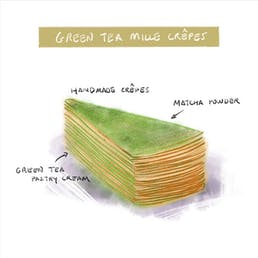 Green Tea Mille Crêpes Cake