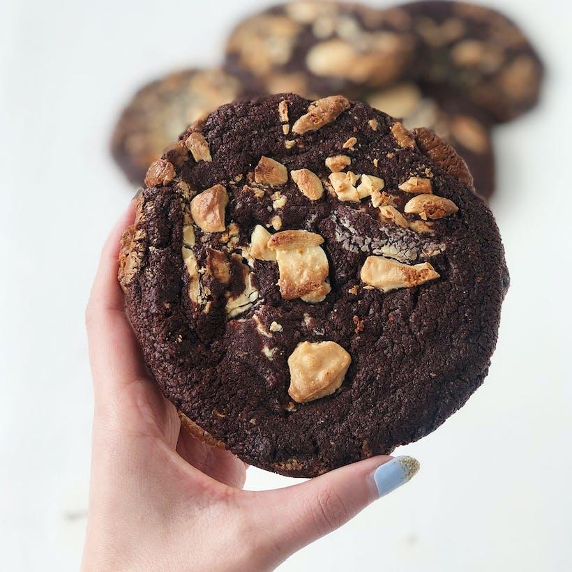 Dark Chocolate White Chocolate Chip Cookies