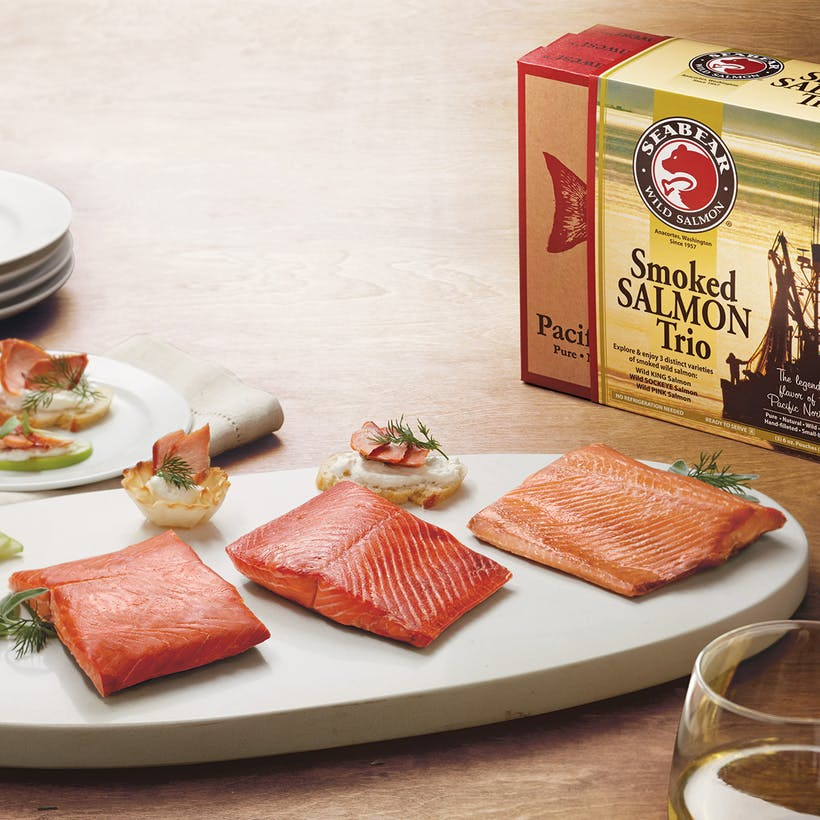 Smoked Salmon Trio Gift Box