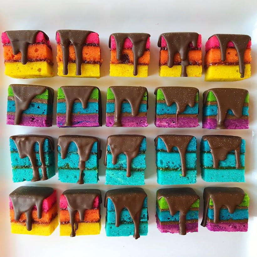 Rainbow Cookies Assorted Fillings - 40 Pack