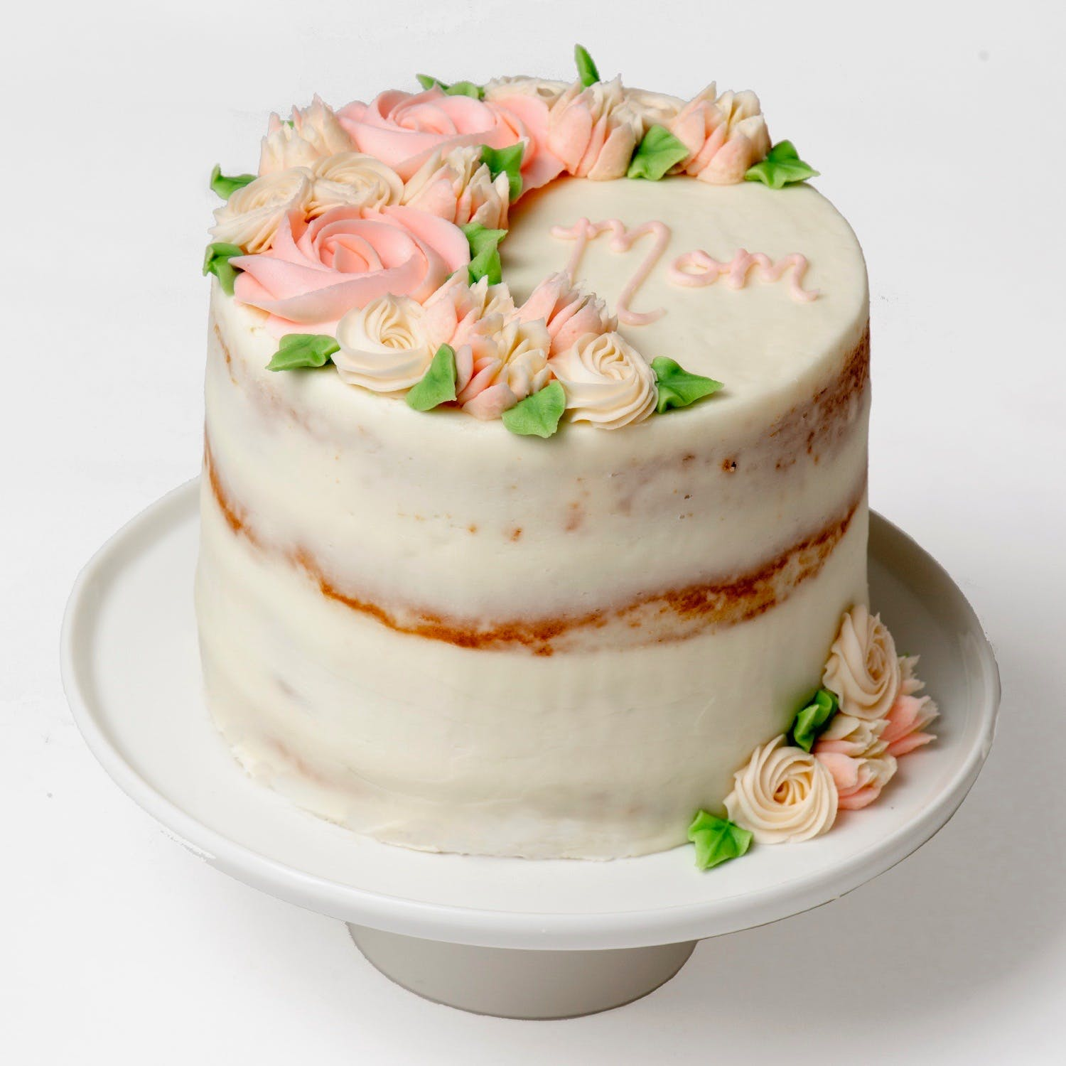 Outstanding Naked Floral Mothers Day Cake By We Take The Cake Goldbelly Funny Birthday Cards Online Kookostrdamsfinfo