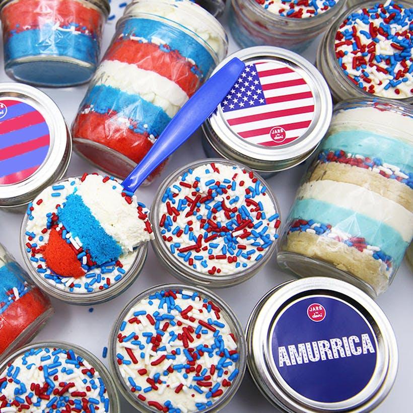 The Long Weekend Cake Jars