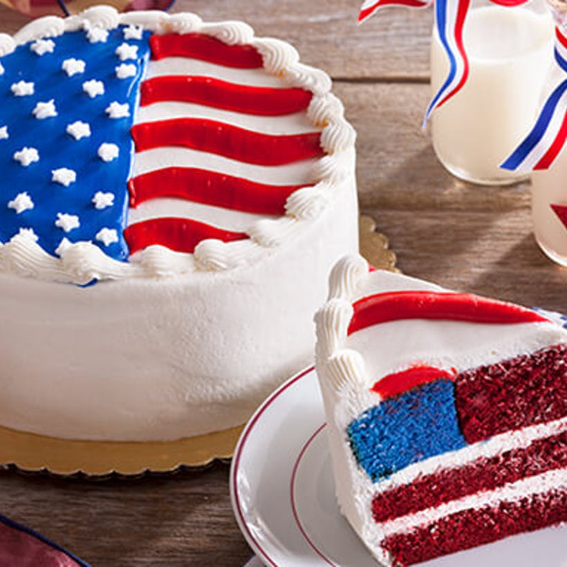 The Stars and Stripes Cake