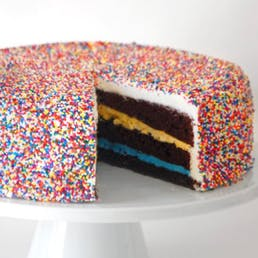 Nonpareil Giggle Cake