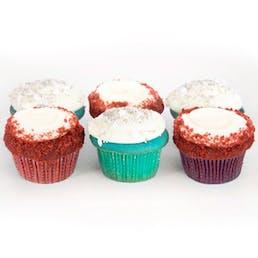 Red & Blue Velvet Cupcakes - 12 Pack