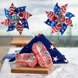 Patriotic Tie Dye Bagel Dozen