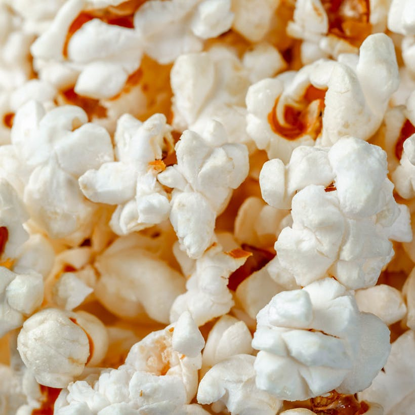 White Chocolate Coated Popcorn Gift Tin