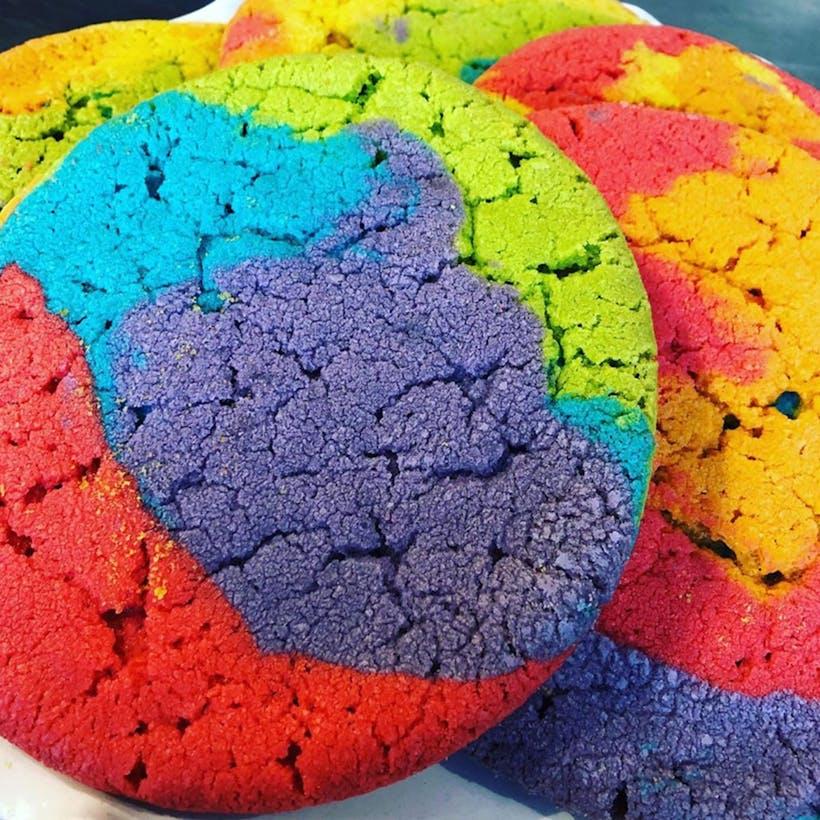GIANT Rainbow Cookies - 5 Pack