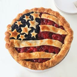 "Not So Tiny Blueberry Cherry American Flag Pie - 9"" Pie"