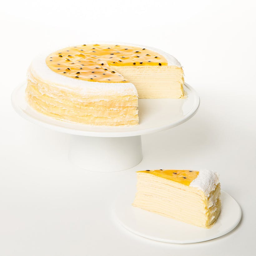 Passion Fruit Mille Crêpes Cake