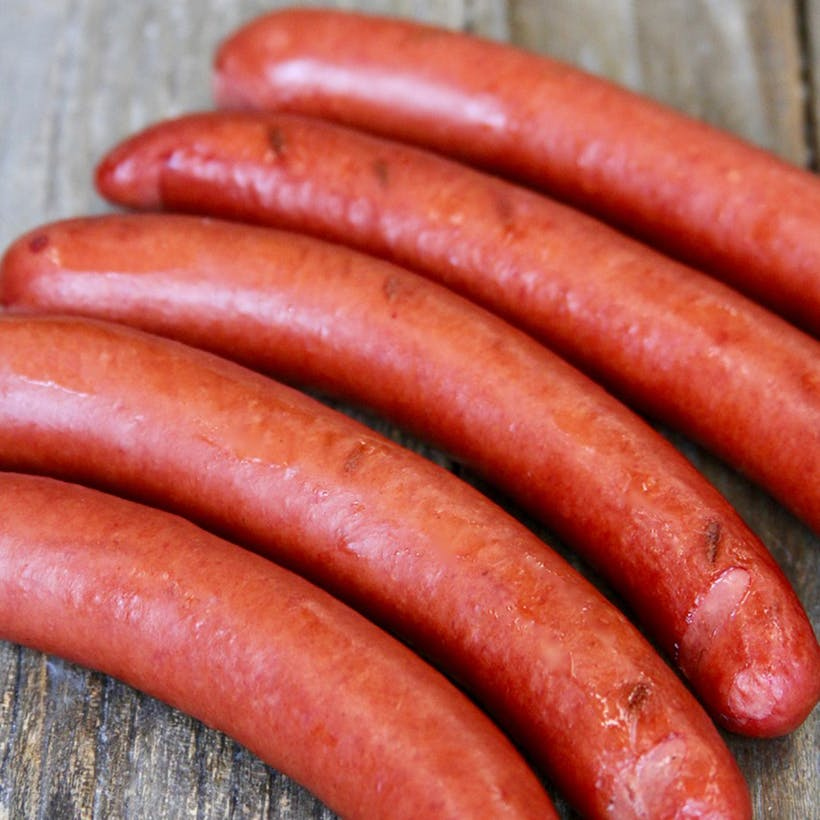 Natural Cased All Beef Hot Dogs - 24 Pack