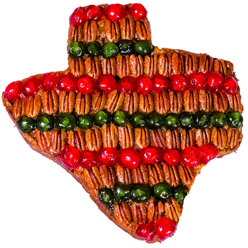 Texas Shaped Fruitcake - 25 lbs.