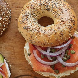 Bagels, Cream Cheese & Nova Scotia Salmon - One Dozen